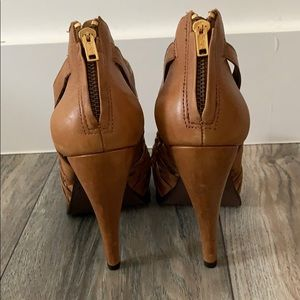 Elizabeth and James Shoes - Elizabeth and James leather cut out booties